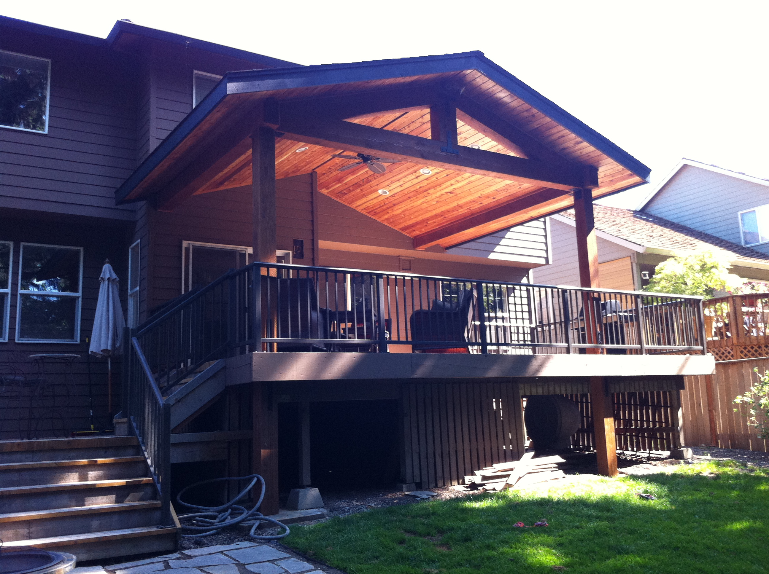 ceiling fan kitchen anti fatigue mats timber patio cover   indy construction, llc