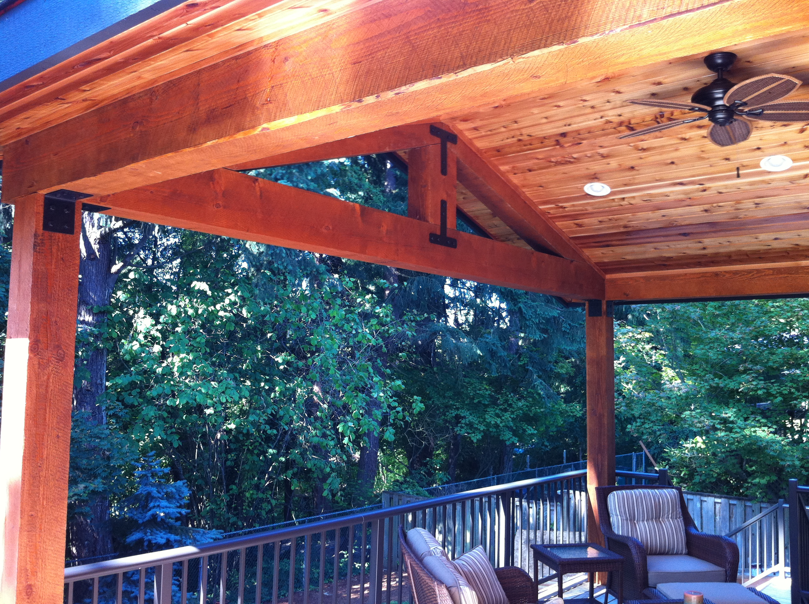 ceiling fan kitchen wall phones timber patio cover   indy construction, llc