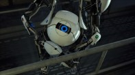 The robots of portal 2 use ronot eyes and simple shapes to express a wide range of emotion.