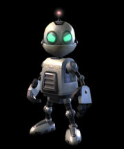 Ratchet and Clank again uses the round eye/two shutter design for their robots