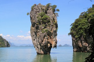 Limestone cliffs and pinnacle islands