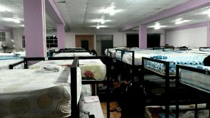Girls sleeping quarters!