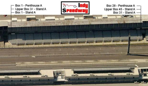 Indy 500 seating chart stand b for Indianapolis motor speedway ticket office