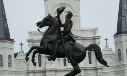 Black Lives Matter Rally in New Orleans Calling for Tear Down of Andrew Jackson Statue in Jackson Square