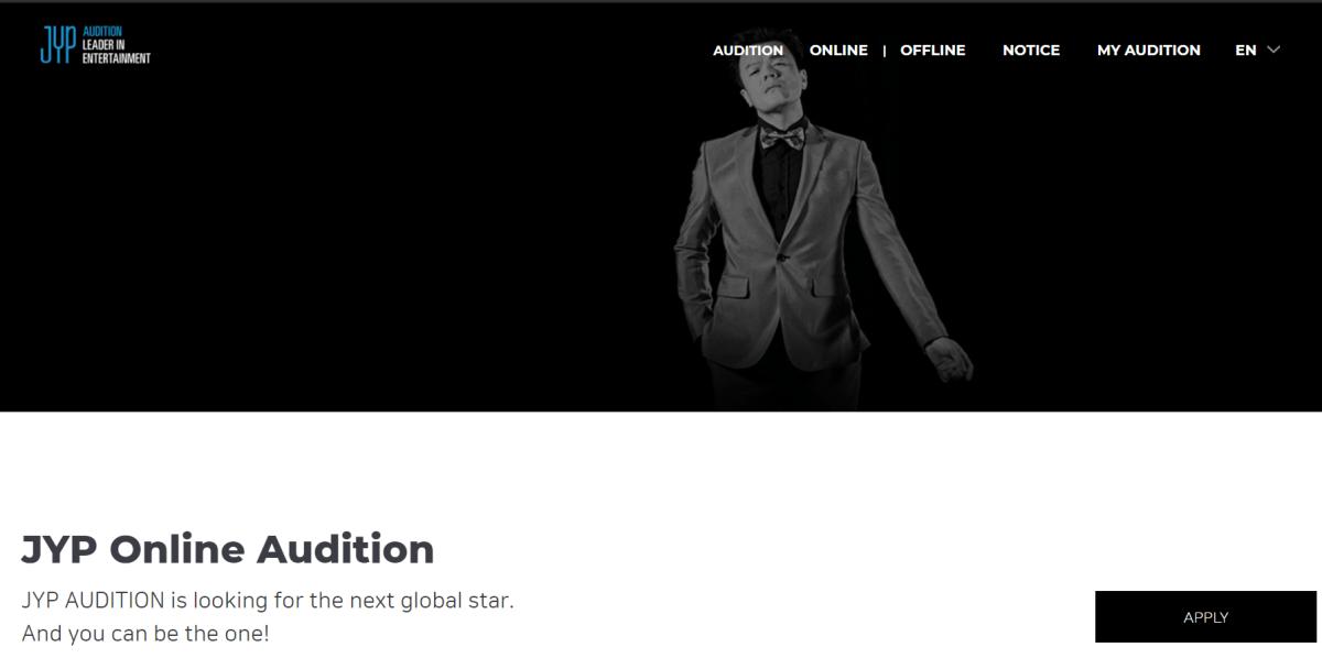 JYP Audition 2021 online