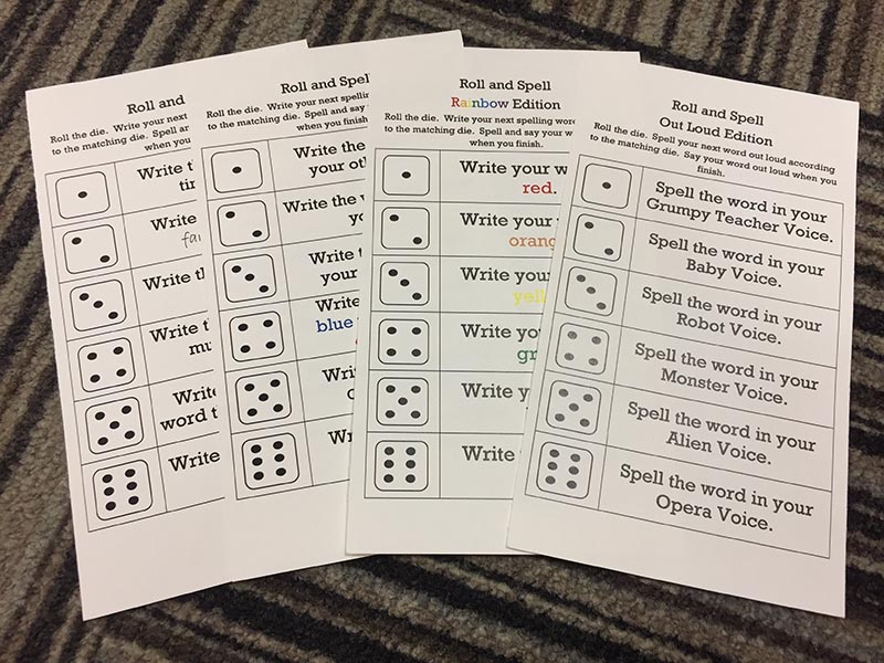 roll and spell cards
