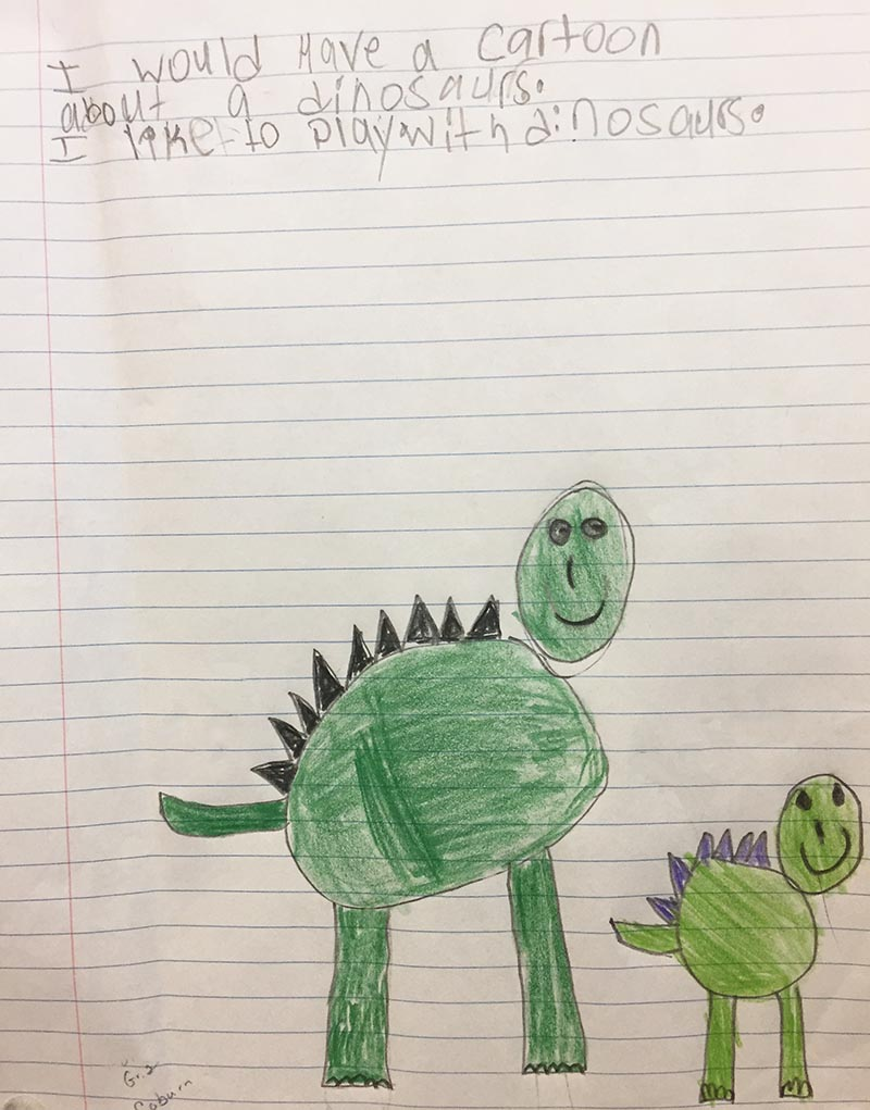 Dino writing prompt