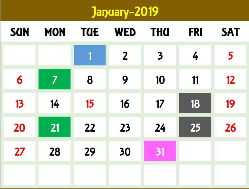 calendar template for excel 2010
