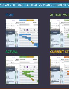 Gantt chart maker excel template views plan actual vs also rh indzara