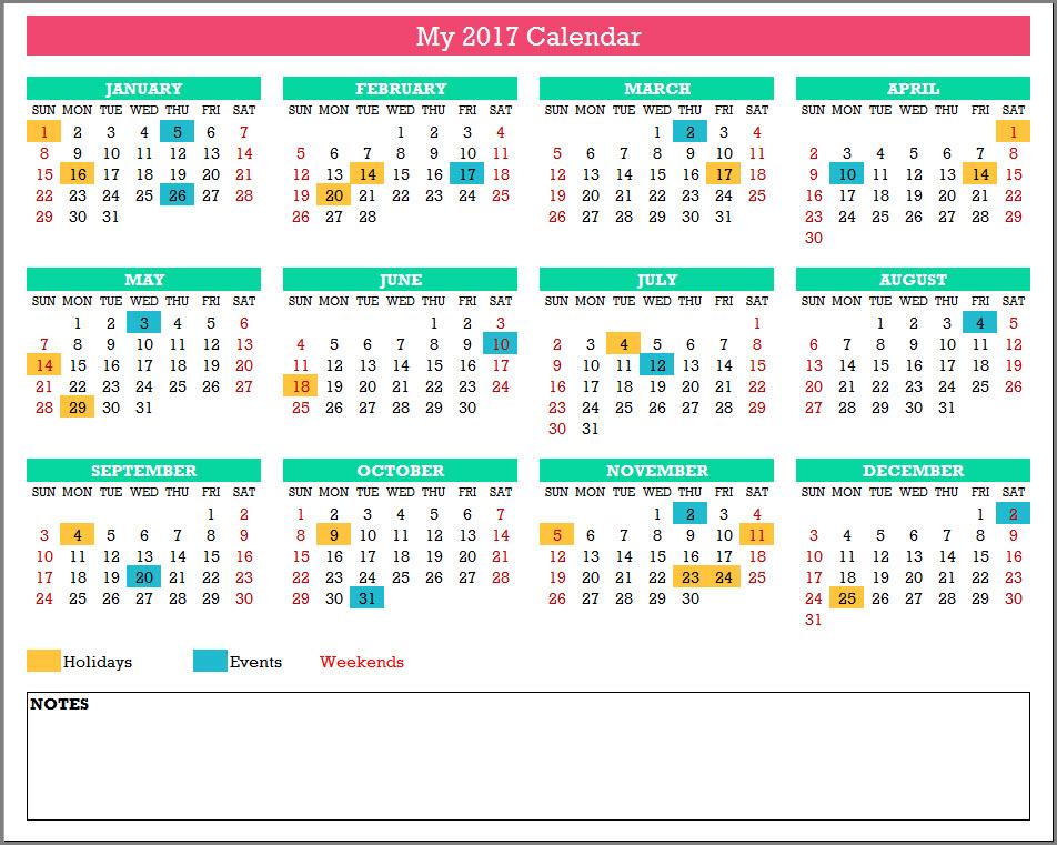 calendar template 17 calendar