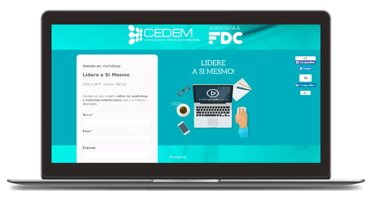 Landing page para o Workshop Cedem / FDC