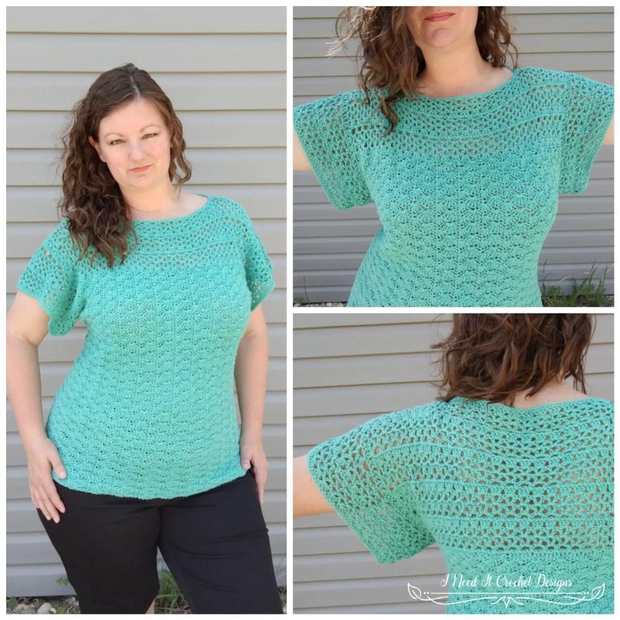 The Aerwyna Blouse - Free Crochet Pattern