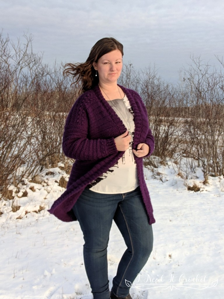 The Boxed Baubles Cardigan - Free Crochet Pattern