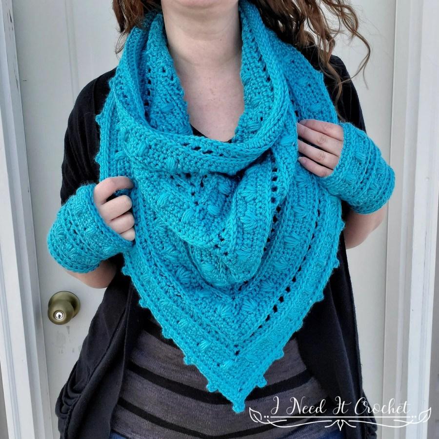 Spring Blooms Gloves - Free Crochet Pattern