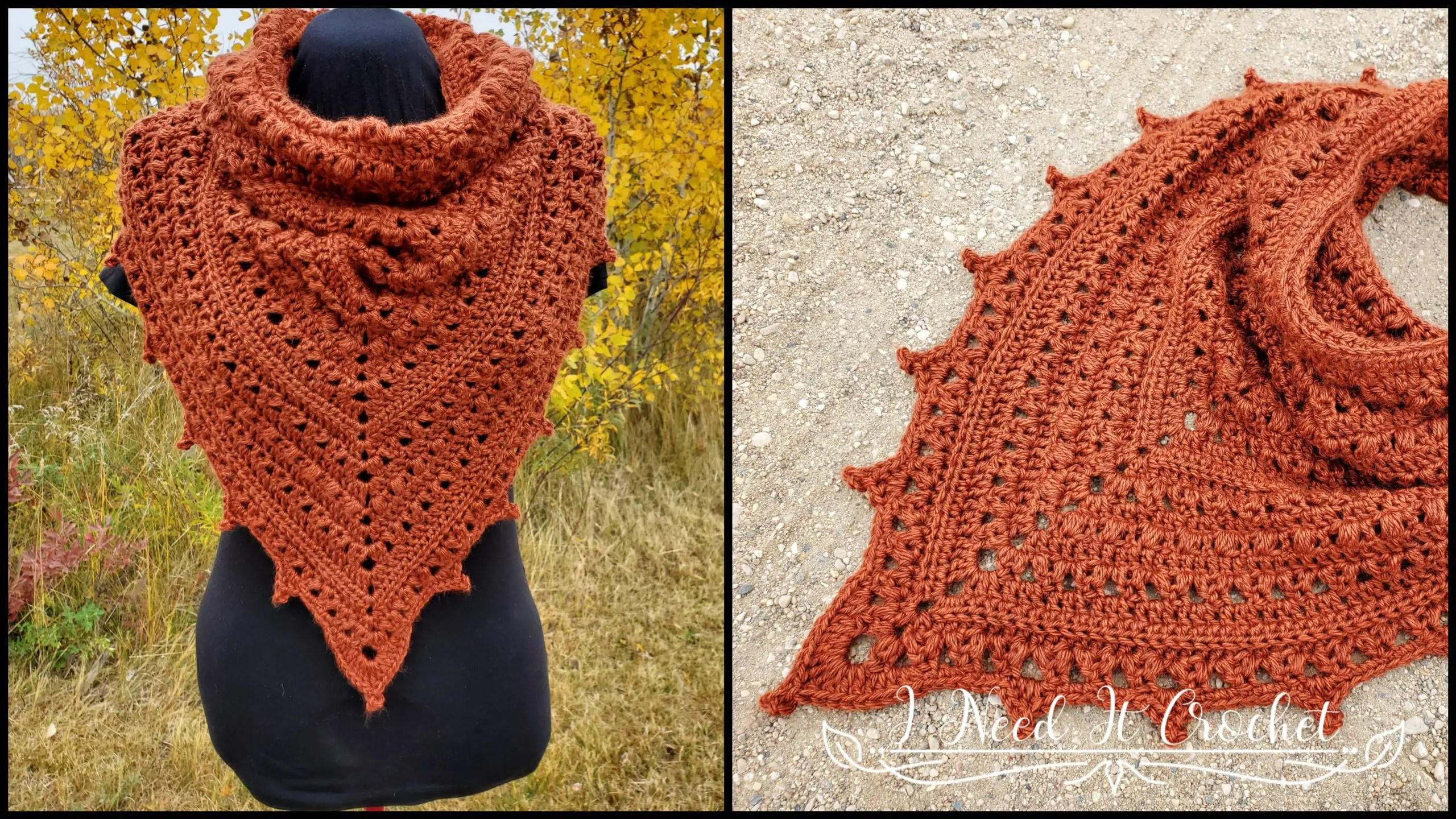 Puffs N Picots Bandana Cowl - Free Crochet Pattern