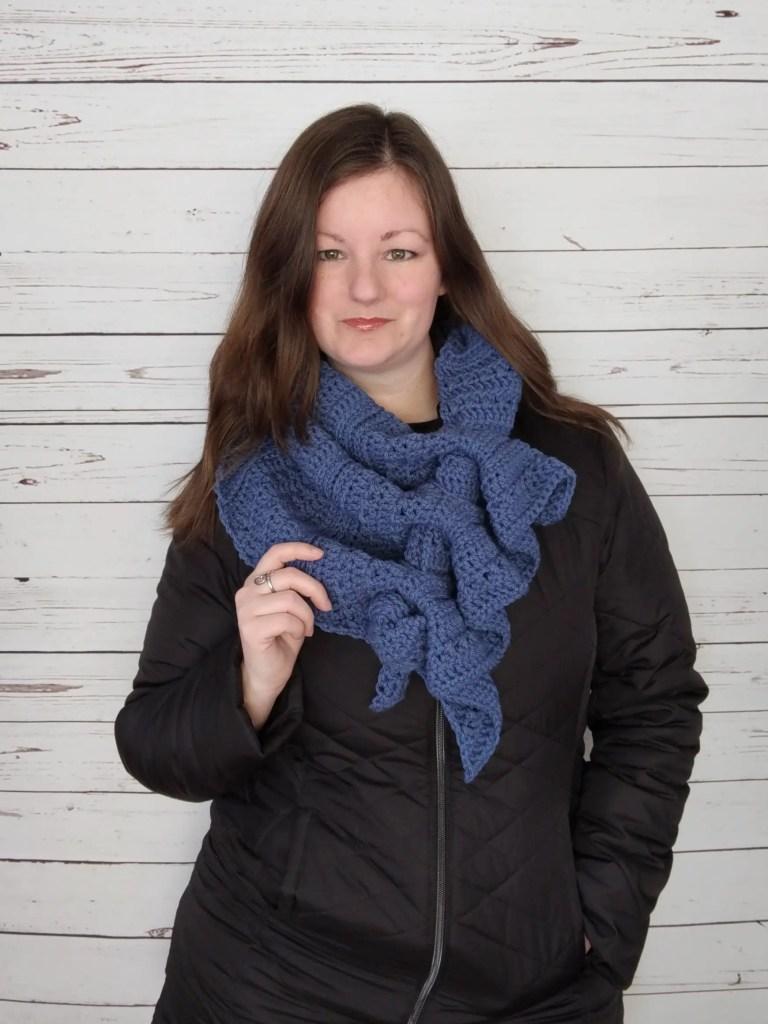 Winter Waves Scarf - Free Crochet Pattern