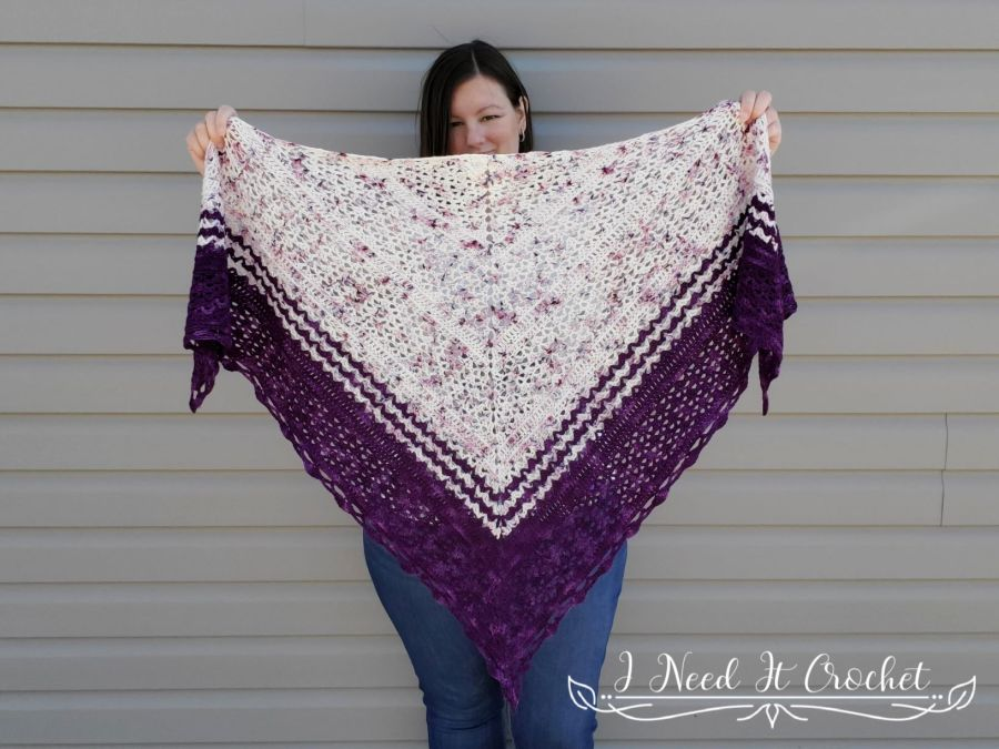 Milestones Shawl - Free Crochet Pattern