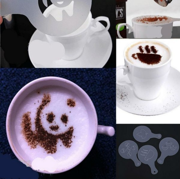38 Coffee Decorating Stencils