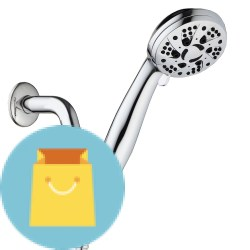"AquaDance High Pressure Handheld Shower with Hose AquaDance High Pressure 6-Setting 3.5"" Chrome Face Handheld Shower with Hose for the Ultimate Shower Experience! Officially Independently Tested to Meet Strict US Quality & Performance Standards."
