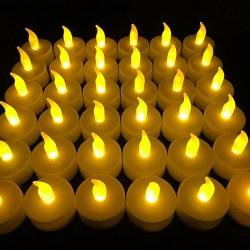 Flameless LED Tea Light Candles Flameless LED Tea Light Candles, Vivii Battery-powered Unscented LED Tealight Candles, Fake Candles, Tealights (36 Pack).