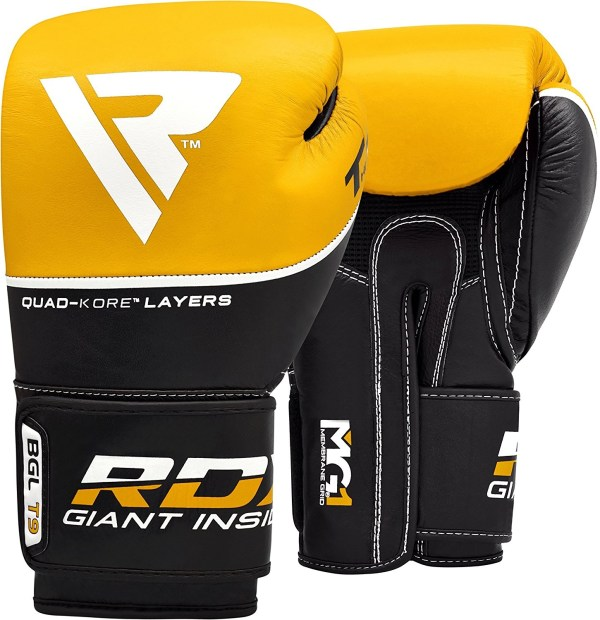 RDX Ace Boxing Gloves Muay Thai Training Genuine RDX Ace Boxing Gloves Muay Thai Training Genuine Cow Hide Leather Sparring Punching Bag Mitts kickboxing Fighting.