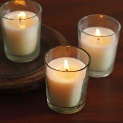 Set of 48 Unscented Glass Filled Votive Candles HOSLEY'S Set of 48 Unscented Glass Filled Votive Candles - 12 Hour Burn Time.