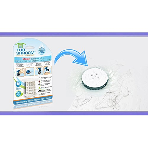 TubShroom The Revolutionary Tub Drain Protector Hair Catcher