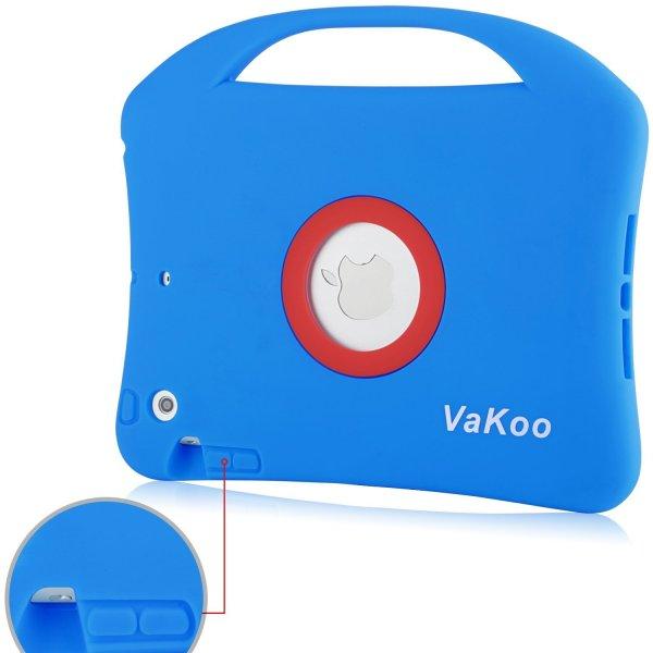 VAKOO iPad Mini Case Shockproof VAKOO iPad Mini Case, iPad Mini 3 2 1 Case Kids Proof Shockproof Drop Proof Soft Silicone Portable Light Weight Handle Case Cover for iPad Mini 3, iPad Mini Retina Display and iPad Mini (Blue/Red).