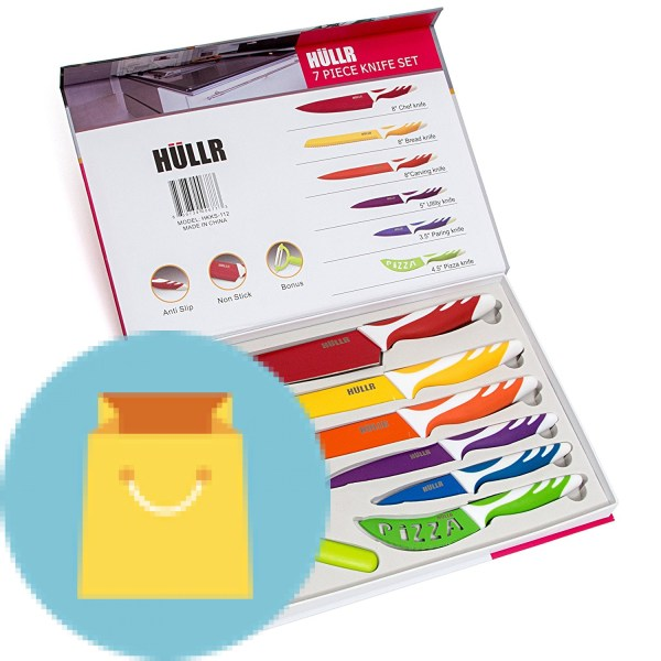 tainless Steel Knives Multi Colored Non-Stick Coating