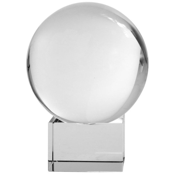 Amlong Crystal Meditation Ball Globe with Free Crystal Stand