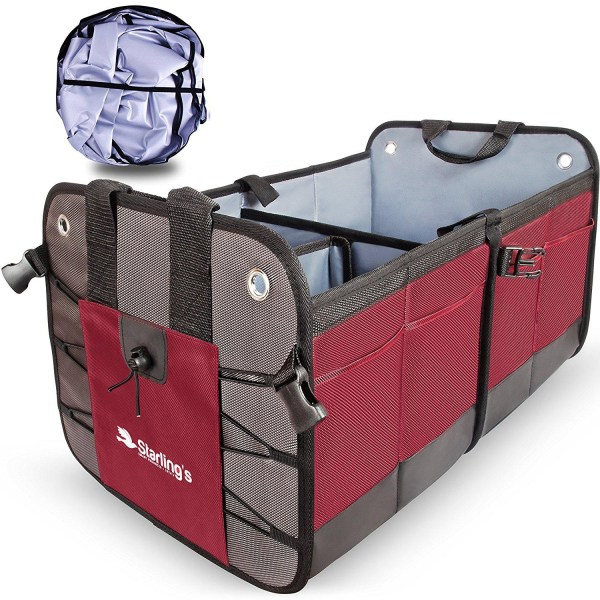 Car Trunk Organizer By Starling's: Eco-Friendly Premium Cargo Storage Car Trunk Organizer By Starling's: Eco-Friendly Premium Cargo Storage Container, Best for SUV, Truck, Auto & any Vehicle Heavy Duty Construction W/ Car Sunshade - Enhance Your Travel Experience.
