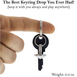 EDC Keychain Spinning Top - Spins Forever (up to 4:51 minutes) EDC Keychain Spinning Top - Spins Forever (up to 4:51 minutes), Self-Balancing, Precision Machined Stainless Metal. This Keyring Fidget Gyroscope is a Unique Gift For Men / Adults. Desk Toy Spin Top.