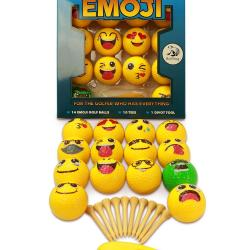 Emoji Golf Balls Gift Edition - 14 Deluxe Practice Golfballs