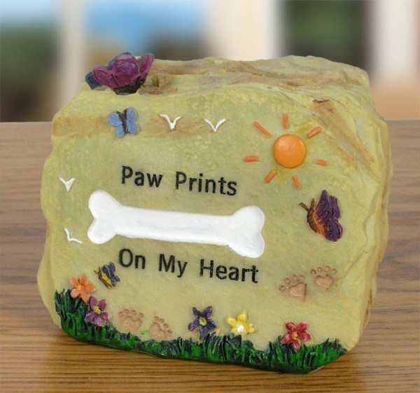 Pet Memorial Desk Top Message Rock