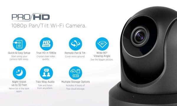 Amcrest Wireless WiFi IP ProHD Camera Amcrest IP2M-841 ProHD 1080P (1920TVL) Wireless WiFi IP Camera, Black.