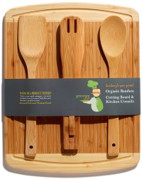 Bamboo Cutting Board Housewarming & Wedding Gift Set Best