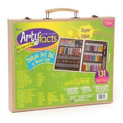 Darice 131-Piece Premium Art Set with Wood Box