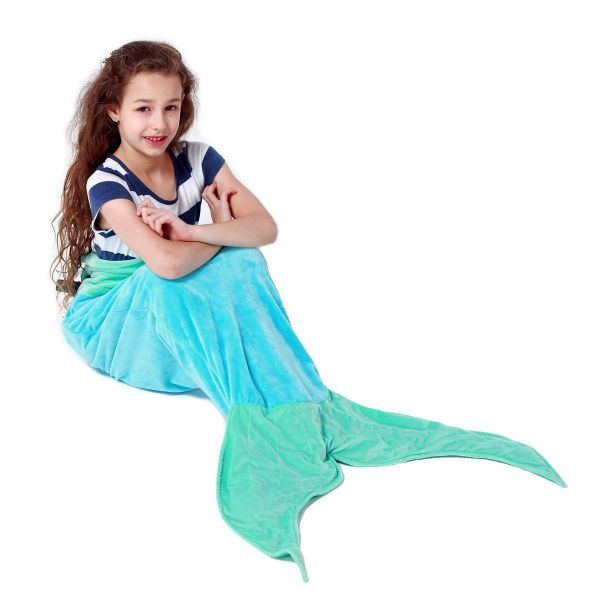 Echolife Mermaid Tail Blanket Super Soft Fleece Echolife Mermaid Tail Blanket Super Soft Fleece Sleeping Bags Flannel Mermaid Blanket Tail Great Gifts for Kids Girls 3-12 Year Olds.