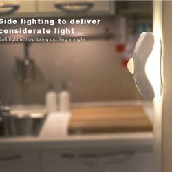 GARMAR Motion Sensor LED Night Light GARMAR Motion Sensor LED Night Light, Cordless Battery-Powered LED Night Lamp, Stick-anywhere Closet Lights Stair Lights, Safe Lights for Baby Room, Hallway, Bathroom, Bedroom, Kitchen--Warm White.