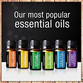 Pure Body Naturals Essential Oils Gift Set Pure Body Naturals Essential Oils Gift Set, Lavender/Tea Tree/Eucalyptus/Lemongrass/Orange/Peppermint, 6 count - 10 ml.