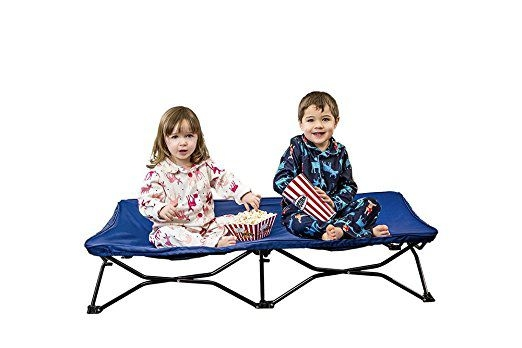 Regalo My Cot Portable Toddler Bed Includes Fitted Sheet Regalo My Cot Portable Toddler Bed, Includes Fitted Sheet and Travel Case, Royal Blue.