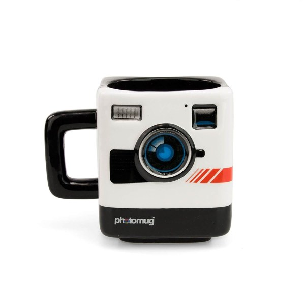 Mustard Tea Coffee Mug Cup - Retro Camera