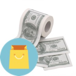 Novelty $100 USD Dollar Bill Funny Money Currency Paper Roll