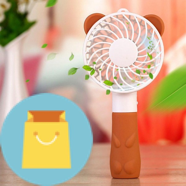 Security Cute Bear Fan Mini Portable Handheld