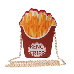 Women Novelty Crossbody Bag Funky Purse (French Fries)