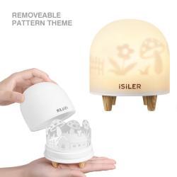iSiLER Portable Silicone Cute Nursery Night Lamp