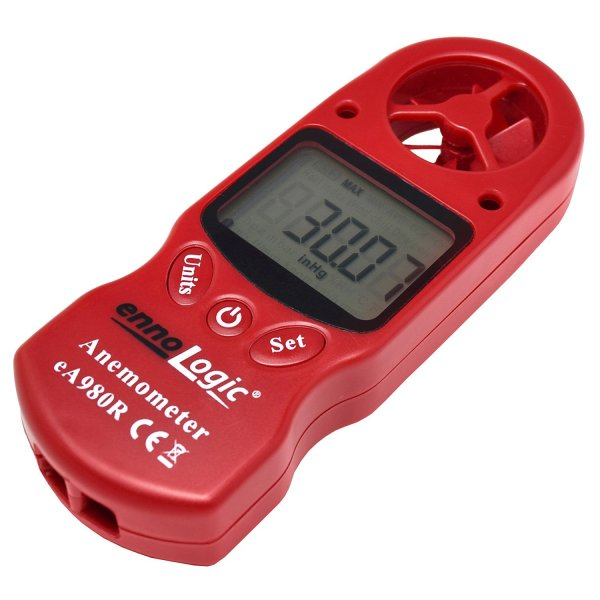 Anemometer ennoLogic - 8 Parameters: Wind Speed, Wind Chill, Air Temperature Anemometer ennoLogic - 8 Parameters: Wind Speed, Wind Chill, Air Temperature, Humidity, Heat Index, Dew Point, Barometric Pressure, Altitude – Digital Weather Meter with Backlight.
