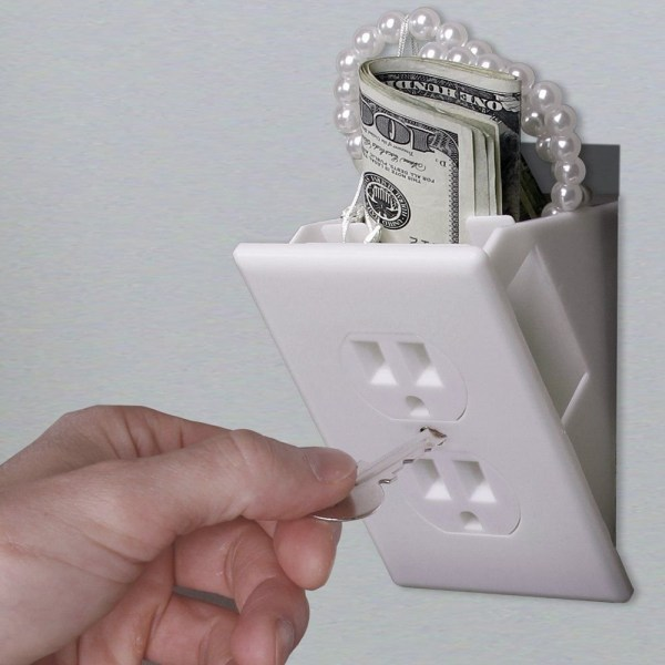 Hidden Wall Safe Secret Stash Electrical Plug