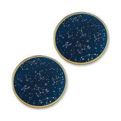 Kate Aspen Under the Stars Glass Coasters