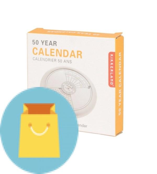 Kikkerland 50 Year Calendar Paperweight
